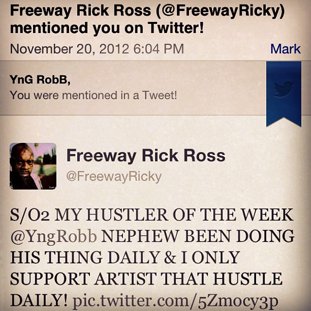 FREEWAY RICK SPEAKS ON YnG RobB